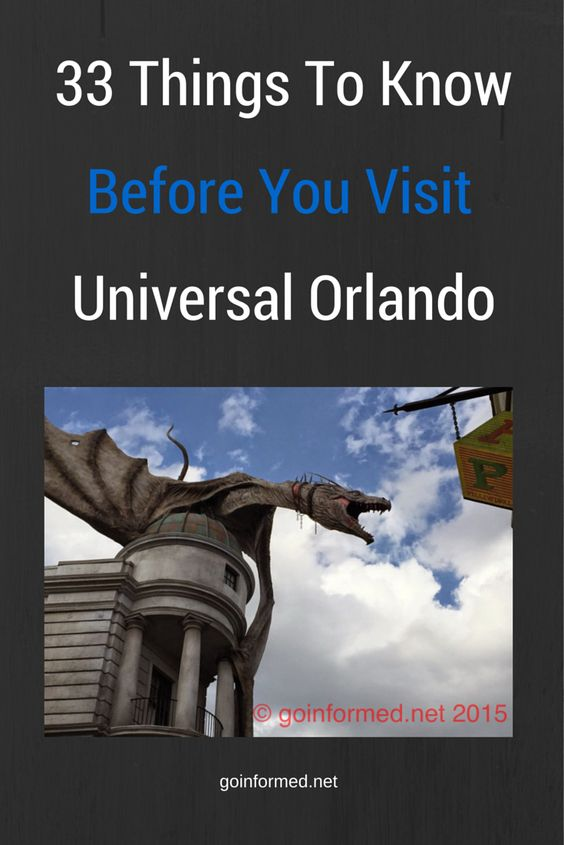 goinformed.net's Top Tips for your visit to Universal Orlando