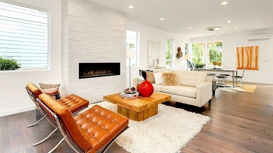 50 Best Modern Farmhouse Designs And Decor Ideas For 2020 Living Room Designs Contemporary Interior Design Brown Leather Chairs