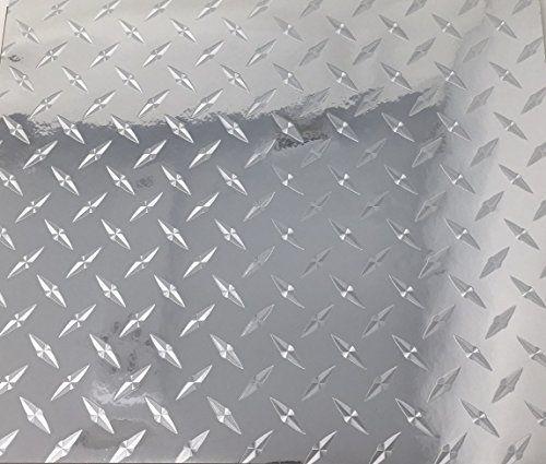 6 Pack 12 X 10 Silver Chrome Diamond Plate Permanent Adhesive Vinyl Sheets Vinyl Sheets Diamond Plate