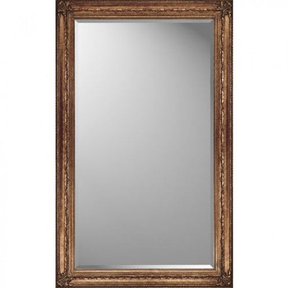 Paragon Rectangle Antique Gold Elegance Mirror - 8724
