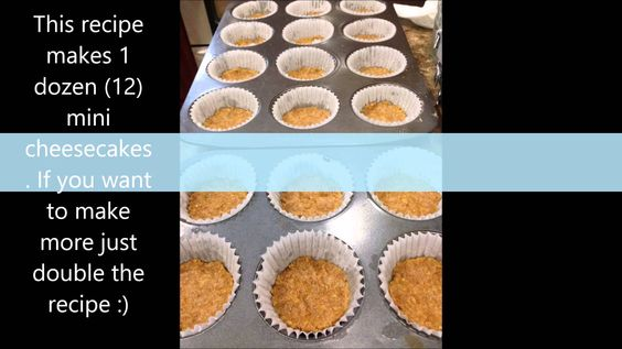 how to make mini cheese cakes :) easy to make and it taste delicious