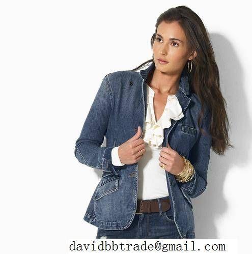 Lady Jean Denim Jacket Bespoke Tailored Ralphlauren | office wear