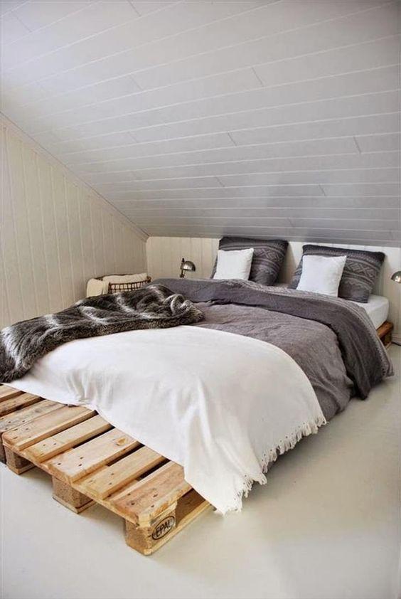 Pallet Platform #Bed Plan - 42 DIY Recycled Pallet Bed Frame Designs | 101 Pallet Ideas - Part 2