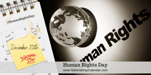 Human Rights Day December 10 National Day Calendar 2020