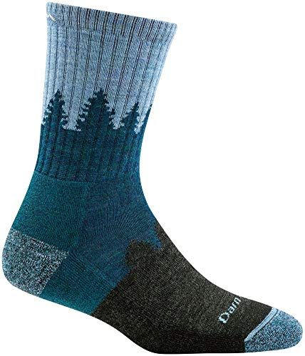 Darn Tough Treeline Micro Crew Cushion Sock Women S Blue Small Socks Women Darn Tough Socks Crew Socks