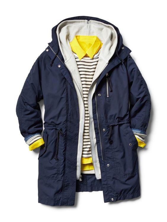 navy + yellow