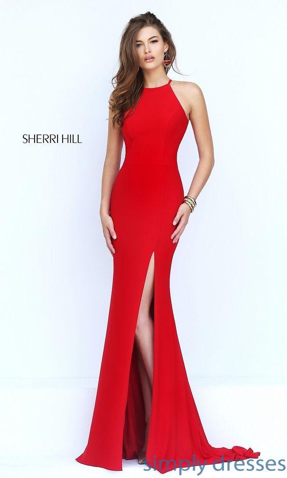 SH-32340 - Sherri Hill Long Open-Back Sleeveless Dress  Shops ...