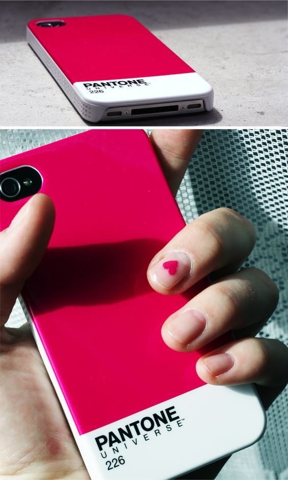Pantone iPhone case and a matching heart