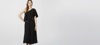 Check out ONE SHOULDER DRESS from Rachel Roy