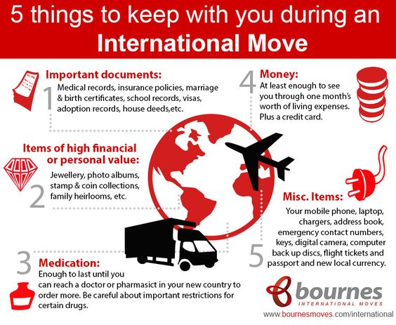 5 things to keep on your person during an international move