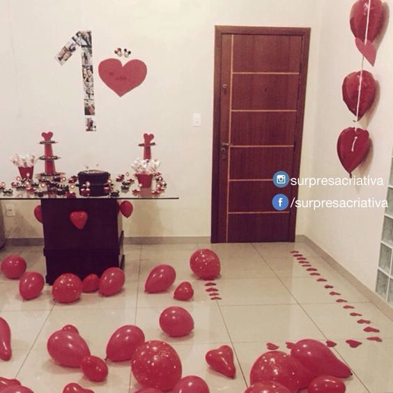 Festa Surpresa No Quarto Do Namorado ~ Instagram com surpresacriativa  Surpresas Namoro  Pinterest