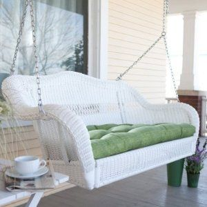 Coral Coast Casco Bay Resin Wicker Porch Swing - oh yes.  there will be a gorgeous big porch, and in it this immaculate, comfy swing. I can feel the breeze on my face as I lean back and close my eyes...Luscious.