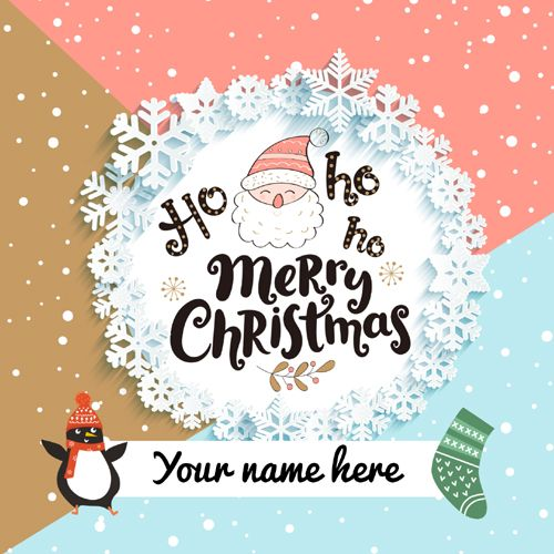Merry Christmas Wishes Cute Santa Greeting With Name Merry Christmas Wishes Happy Christmas Day Christmas Wishes