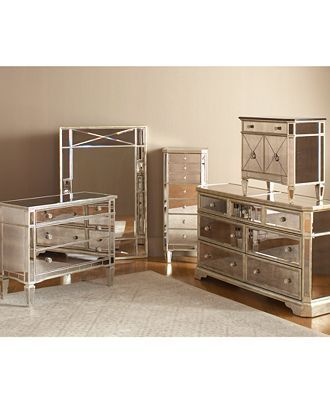 marais bedroom furniture sets & pieces, mirrored - mirrored