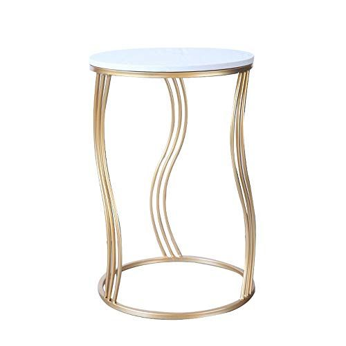 Feifei Side Table Wrought Iron Marble Creative Round Living Room