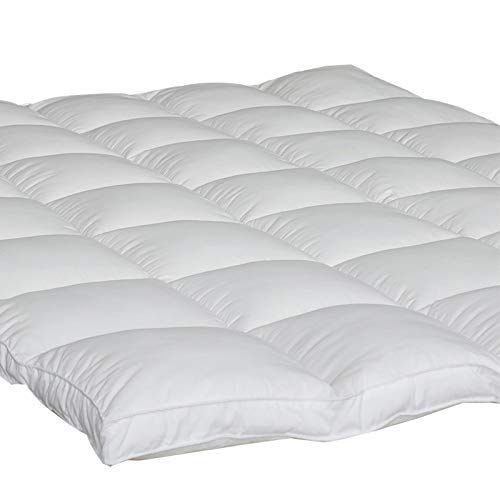Mattress Topper Queen Size 2 Thick Quilted Hypoallergenic Alternative Down Pillow Top Mattress Cover Plush Hotel