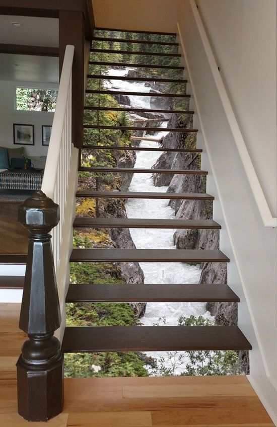 15 Creative Ideas To Decorate Your Stair Risers   Interior Decorating,  Decorating And Interiors