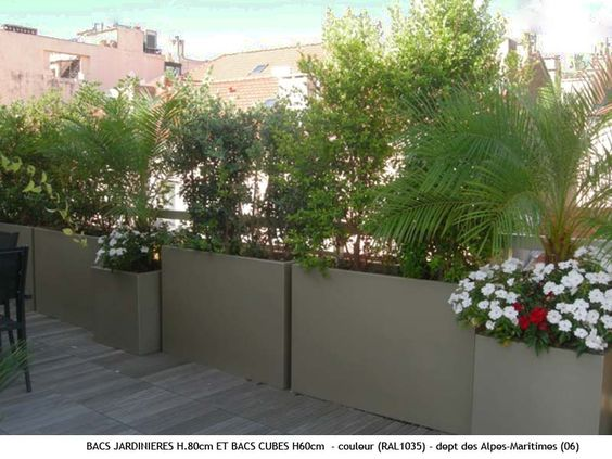 Jardini res sur terrasse appartement pinterest design for Amenagement terrasse exterieure appartement
