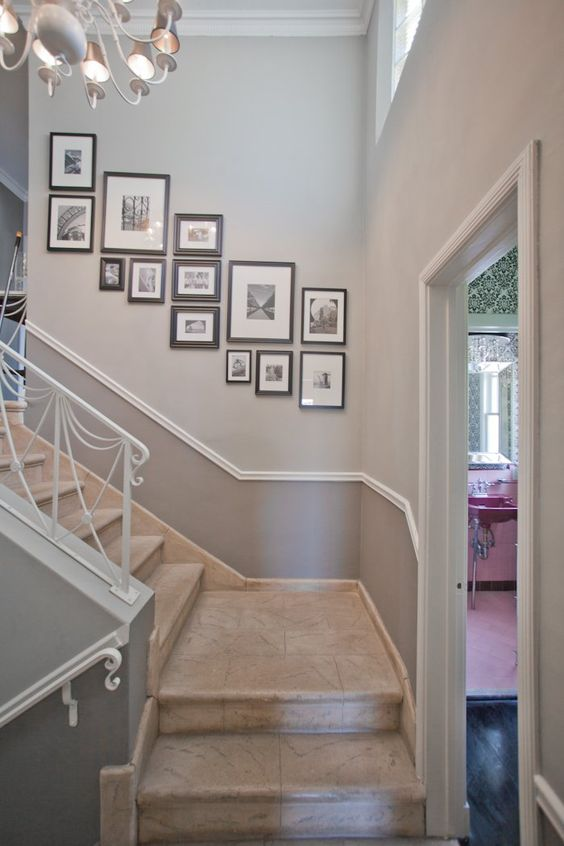 Idea for hanging down our stair wall - Erik & Paul's Happy Los Feliz Home