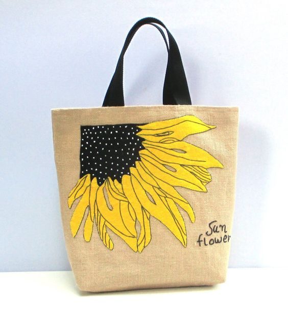 SUNFLOWER    Unique Eco-friendly, handmade with high quality jute . Roomy enough to hold all your daytime or day in the beach necessities, yet still