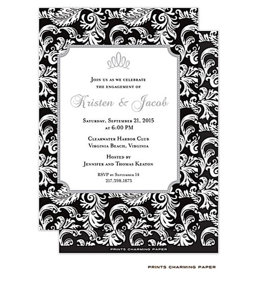 64 best Black and White Party Invitations images – Order Party Invitations