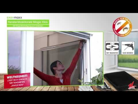 Easymaxx Fenster Moskitonetz Mit Magnetbefestigung 150x130cm In Schwarz Youtube Moskitonetz Moskitos Magnete