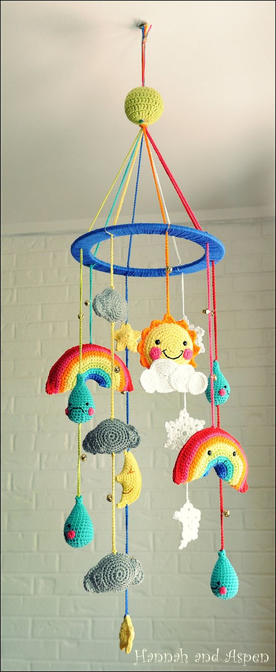 Amigurumi Baby Mobile Pattern : Mobiles pour bebe, Meteo and Crochet on Pinterest