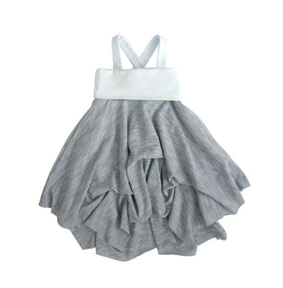 Halter Dress convertible to Maxi, Skirt, Toddler, Jersey, Children's, Baby Blue, Grey, Bustle, Handmade, Unique, Boho, Best Selling, Sale