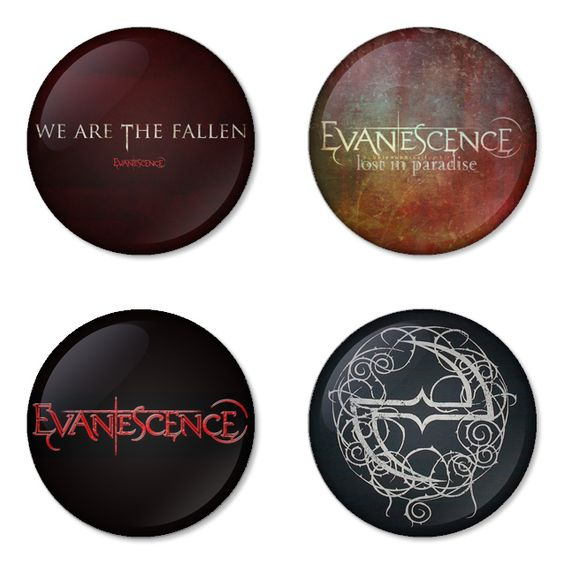 "EVANESCENCE 1.75"" Badges Pinbacks, Mirror, Magnet, Bottle Opener Keychain http://www.amazon.com/gp/product/B00CXVJJHO"