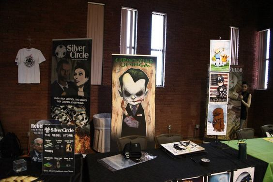 Silver Circle booth and artwork: Granite City Comicon, Circle Booth, Fdt Craft, Craft Event