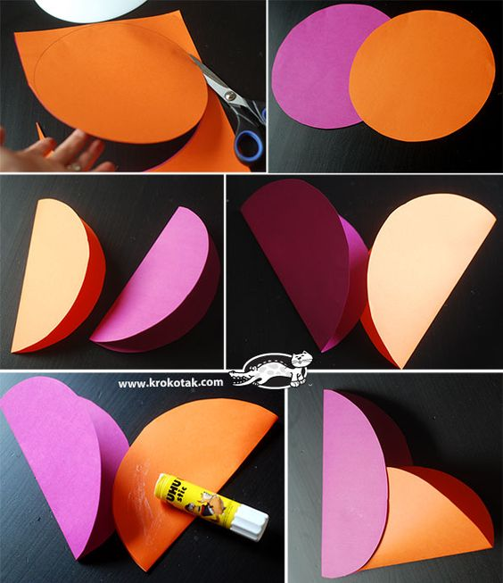 DIY Paper bag - heart: