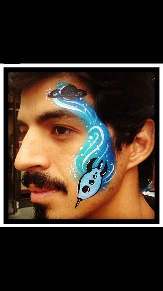 cool rocket design face painting pinterest planets