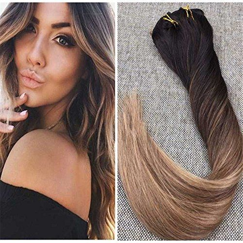 Ugeat 16inch 10pcs 120gram Straight Remy Clip In Human Hair