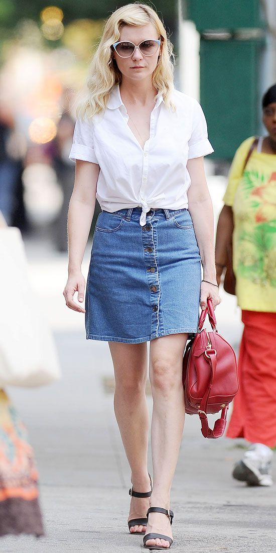 who won fashion today skirts white button and