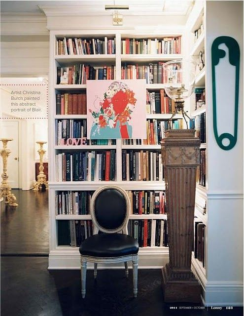 Beautiful built in bookcase.