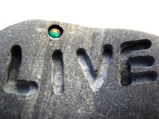 How To Engrave Words Into Rocks....<3