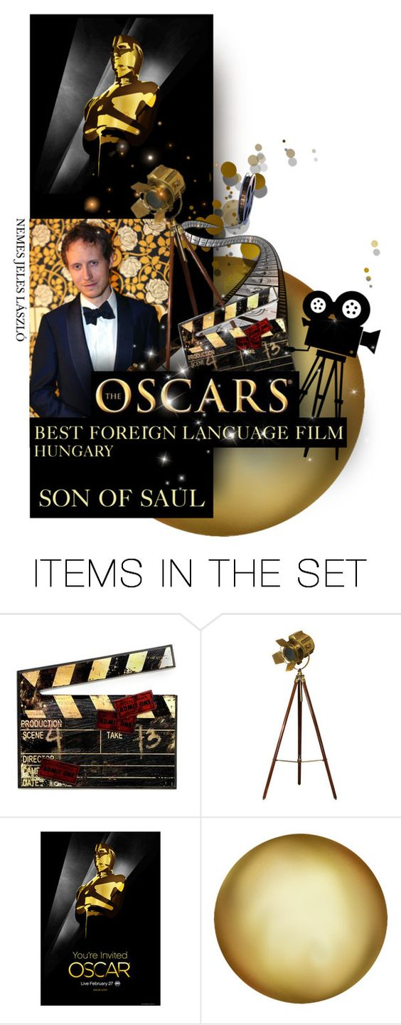 """""""Best Foreign Language Film/Hungary/Son of Saul"""" by giudittina ❤ liked on Polyvore featuring arte, hungary, hungarian y theoscars2016"""