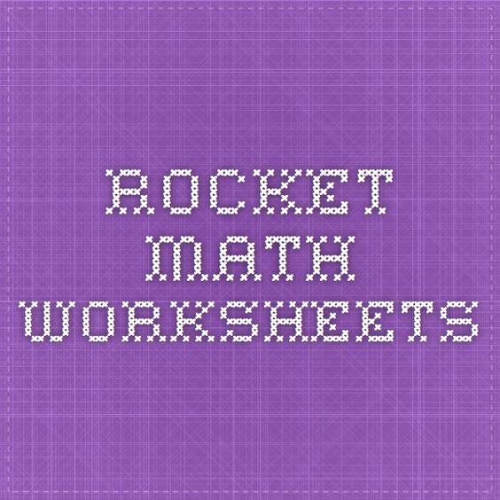 math worksheet : 1000 ideas about rocket math on pinterest  math multiplication  : Rocket Math Worksheet