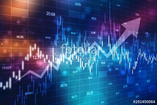 Creative Blue Forex Chart Wallpaper With Grid Invest And Finance