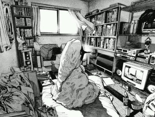 Vaporwave Room: Typical Hikikomori | Perspective art, Manga art, Manga  drawing