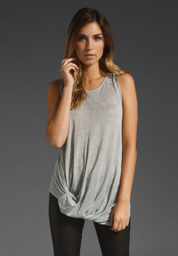 twisted sister knotted hem tank / holy tee