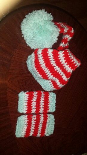 Infant hat and leg warmers