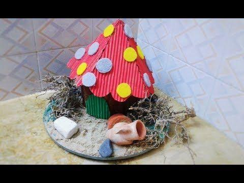 Moubarkablog من جذع شجرة عملت منزل الاقزام فكرة رووع Diy Christmas Ornaments Holiday Decor Novelty Christmas