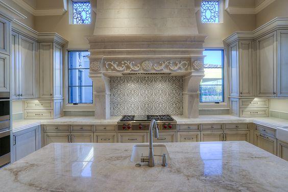 6 Formal Mediterranean Luxury Home kitchen stove