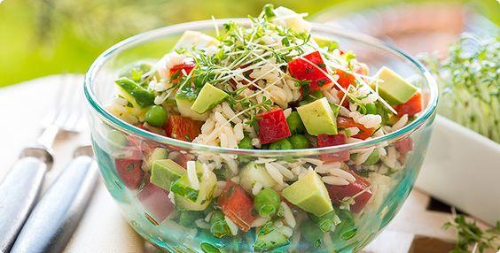 Rezepte Grillen 152 Reissalat mit Gurke und Avocado da P