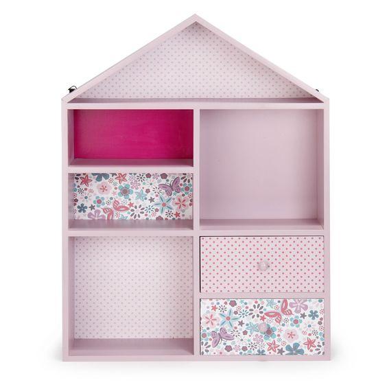 Etagère de rangement rose pour enfant en forme de maison Rose - Maringa - Les rangements de chambre enfant - Les meubles pour chambre enfant - Univers des enfants - Décoration d'intérieur - Alinéa