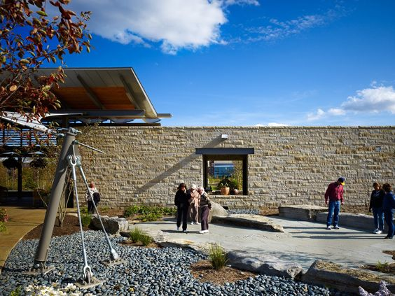 Overlook Pavilion at Penn State University Arboretum / Overland ...