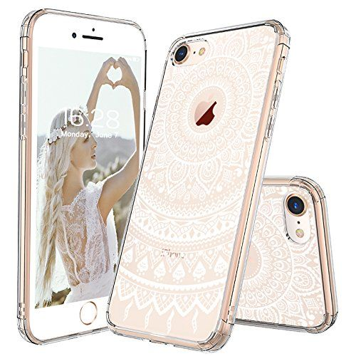 Iphone 8 Case Clear Iphone 8 Case Mosnovo White Henna Mandala Floral Lace Pattern Printed Clear Design Iphone Case Fashion Floral Iphone Case Iphone 8 Cases
