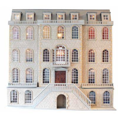 downton manor dolls house kit dollhouse geek pinterest