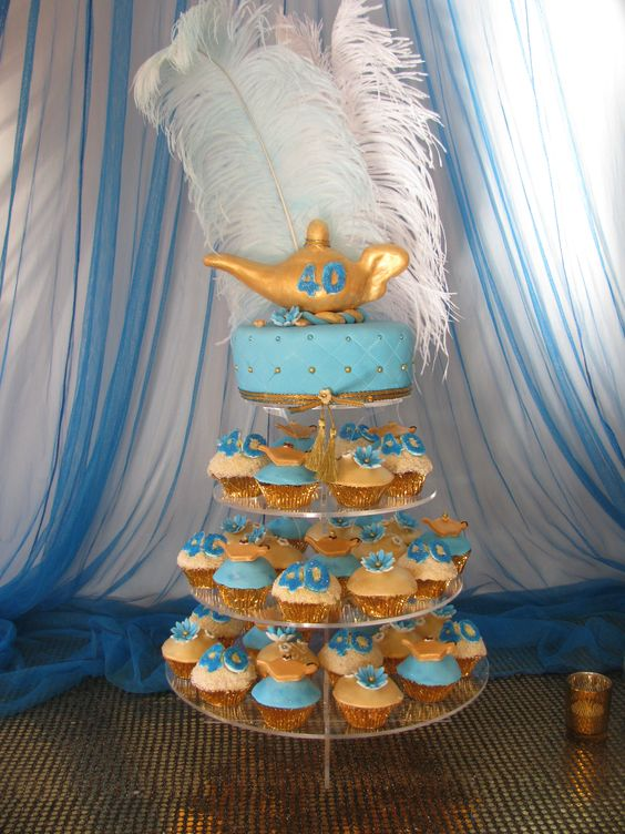 Jasmine party idea-cupcakes- chloes party:
